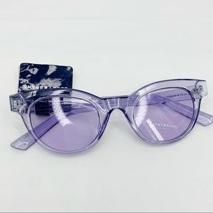Lucky Brand light purple Pacific cateye sunglasses